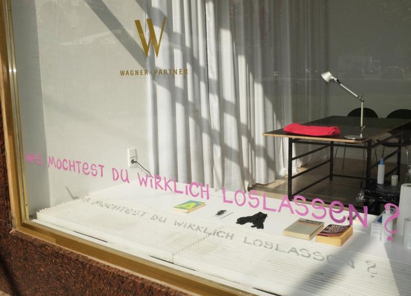 Natascha Stellmach, installation view (exterior),