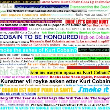 Media Headlines (detail) featured in artist book Media Whore, 2010
