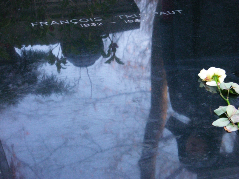 BORIS + NATASCHA at Francois Truffaut's grave, making Focus, Montmartre cemetery, Paris, 2010