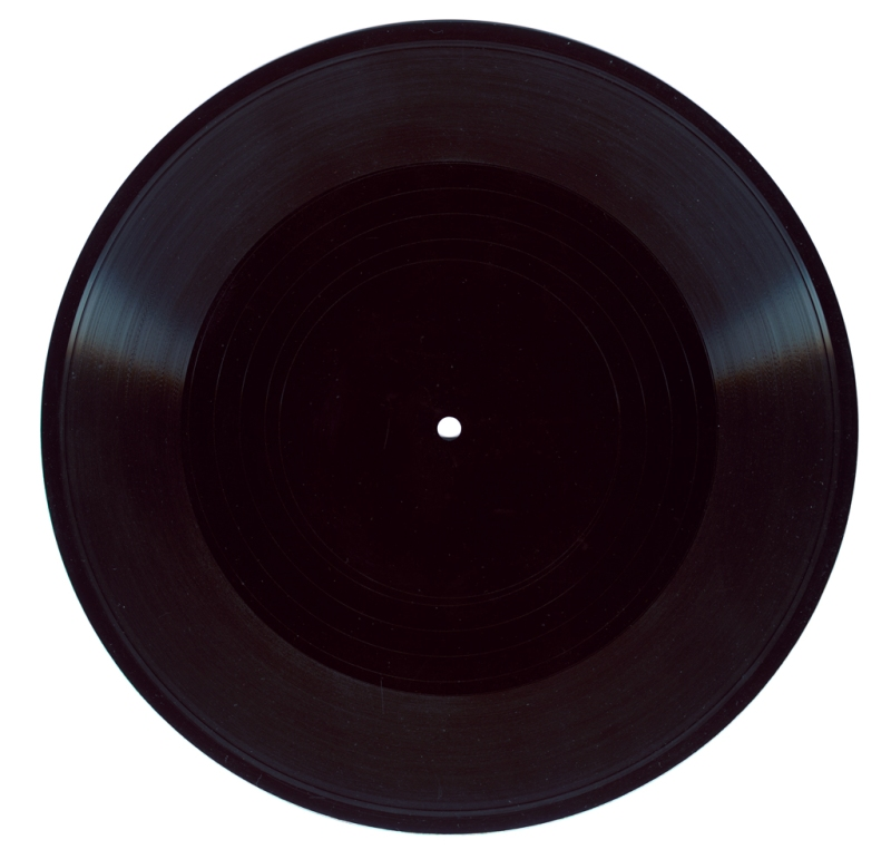 "Natascha Stellmach, It is Black in Here, 2008, monologue (written & recorded by the artist), 10"" record, sound, 6:20 mins"