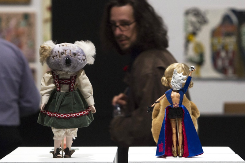 The work Worry Dolls of artist Natascha Stellmach is seen at the exhibition PUNK at the Barcelona Mu
