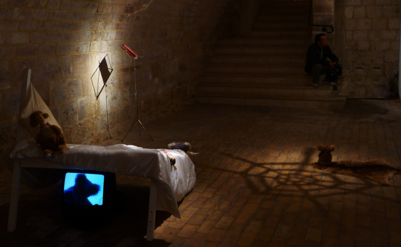 Installation view (detail): The Book of Back, Espace Culturel Beauvais, France, 2011