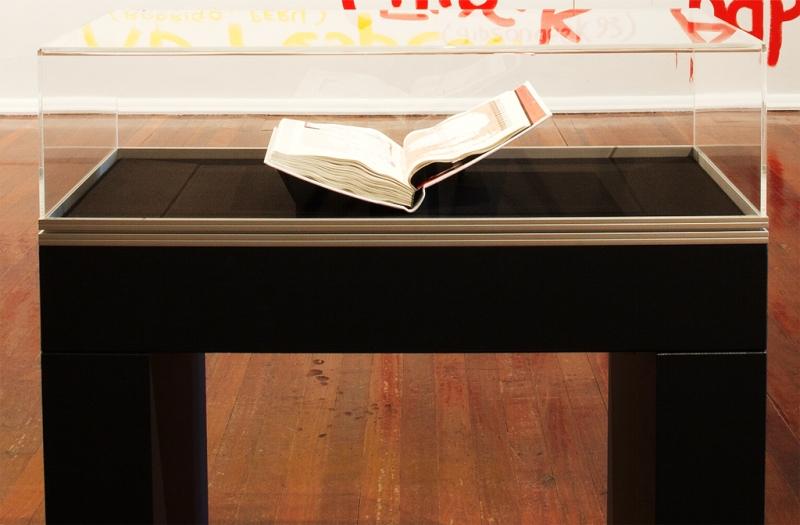 "Natascha Stellmach, Installation view, ""Rape Me"" (artist book), PICA, Australia, 2010"