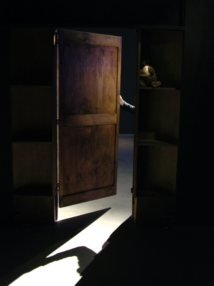 Natascha Stellmach, Installation view: The Book of Back, 2007, entering through the wardrobe at ACP Sydney, 2007