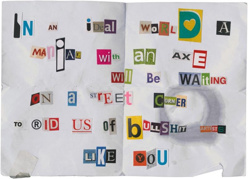 Natascha Stellmach, Threat by Crack Hitler, Greece (sent to the artist), 2010, ink on photo rag, 30 x 40 cm