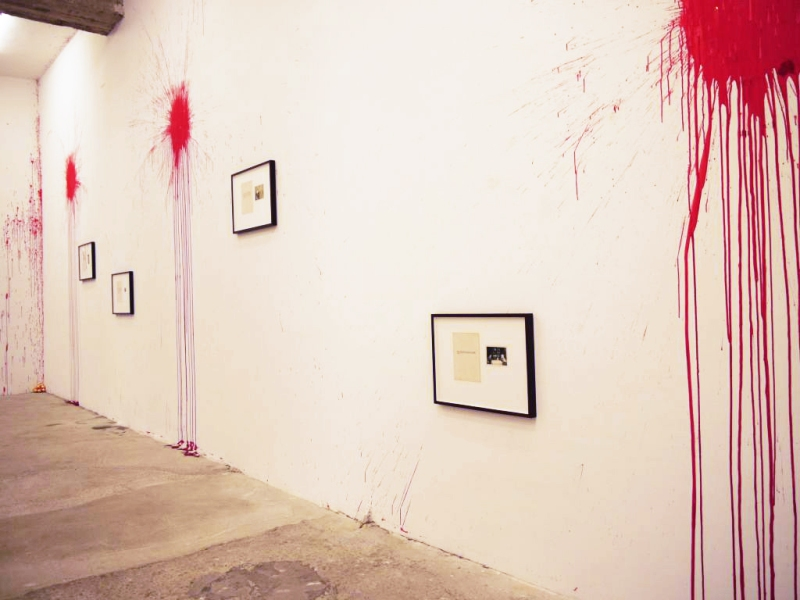 Natascha Stellmach, Installation view (detail), Blood series, Wagner+Partner, Berlin, 2010
