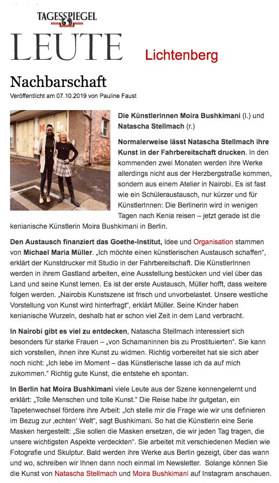 Natascha Stellmach Press Tagesspiegel